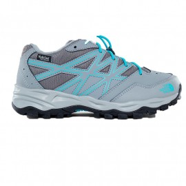 The North Face JR HEDGEHOG HIKER WP GRIFFIN GREY/BLUE CURACAO