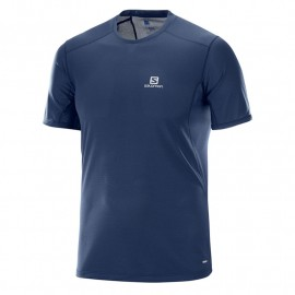 camiseta SALOMON trail runner azul