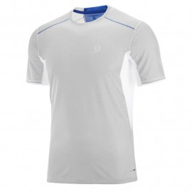 camiseta SALOMON trail runner gris