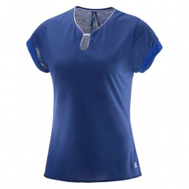 camiseta SALOMON ellipse u-neck azul