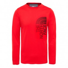 camiseta manga larga THE NORTH FACE ondras roja