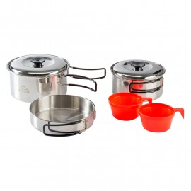 MCKINLEY COOKING SET STAINLESS STEEL 2 SILVER