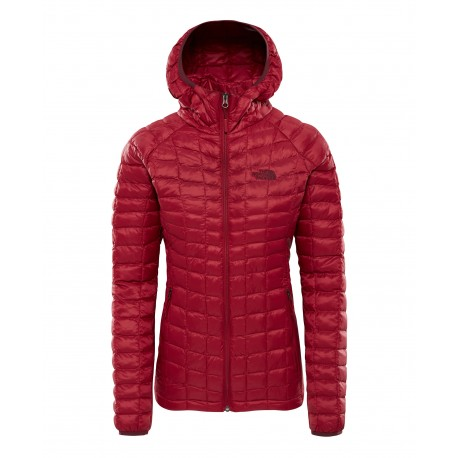 The North Face W THERMOBALL SPORT HOODIE RUMBA RED/RUMBA RED