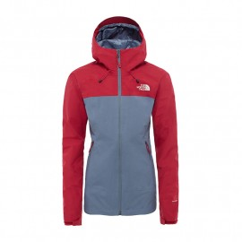 The North Face W HORTONS SHELL JKT GRISAILLE GREY-RUMBA RED