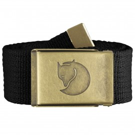 FJALL RAVEN CANVAS BRASS BELT 4 CM. BLACK