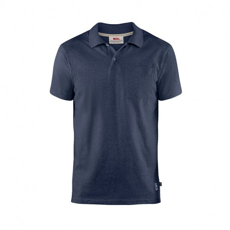 FJALL RAVEN GREENLAND RE-COTTON POLO SHIRT M DARK NAVY