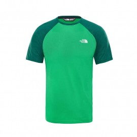 The North Face M TANKEN RAGLAN TEE PRIMARY GREEN/N