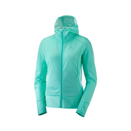 SALOMON RIGHT NICE MID HOODIE W-TILE B TILE BLUE