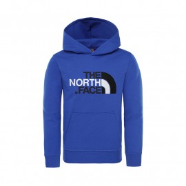 The North Face Y DREW PEAK PO HDY COSMIC BLUE/HIGH RISE GR
