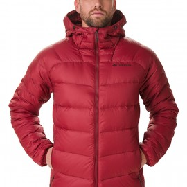 COLUMBIA CENTENNIAL CREEK DOWN HOODED J RED JASPER