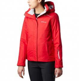 COLUMBIA ON THE SLOPE JACKET RED LILY