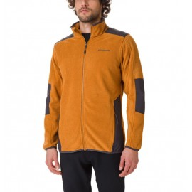 COLUMBIA TOUGH HIKER FULL ZIP FLEECE BURNISHED AMBER, SHARK