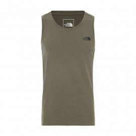 The North Face M ND ACTIVE TANK BURNT OLIVE GREEN HEATHER