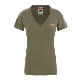 The North Face W S/S SIMPLE DOM TEE BURNT OLIVE GREEN