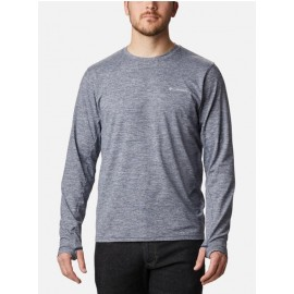 COLUMBIA TECH TRAIL LONG SLEEVE CREW I COLLEGIATE NAVY HEATHER