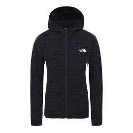 The North Face W NIKSTER FULL ZIP HOODIE TNF BLACK HEATHER