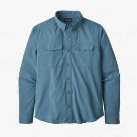 PATAGONIA M'S L/S SELF GUIDED HIKE SHIRT PIGEON BLUE