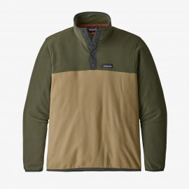 PATAGONIA M'S MICRO D SNAP-T P/O NEW NAVY W/CLASSIC RED